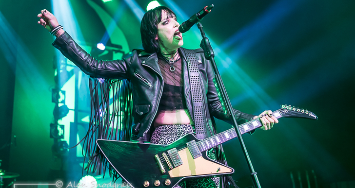 Halestorm, In This Moment and New Years Day at the Warfield in San Francisco