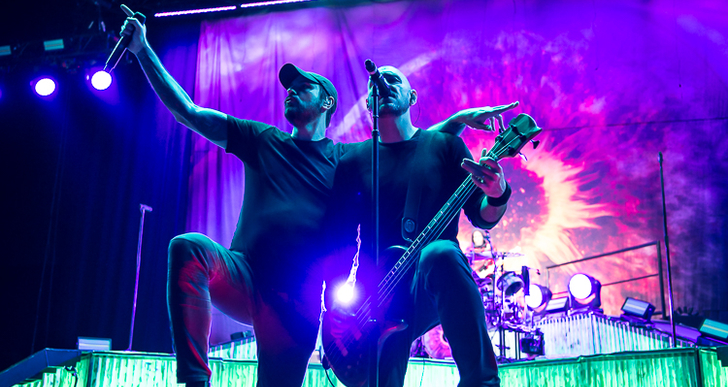 Breaking Benjamin, Three Days Grace, Dorothy and Diamante at Concord Pavilion in Concord