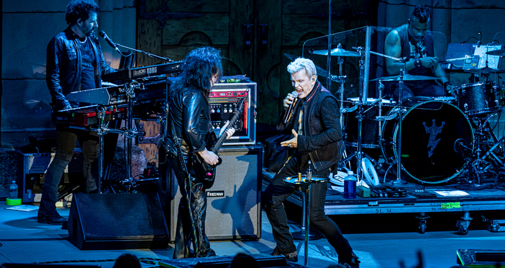 Billy Idol and Down and Outlaws at the Mountain Winery in Saratoga