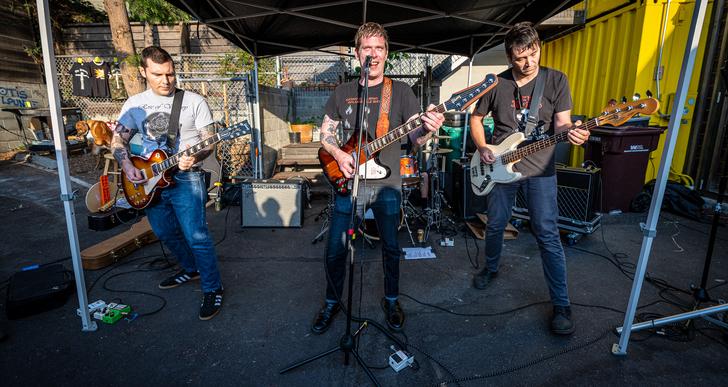 The Beltones, Warren Flitzgerald, Kevin Seconds and Kepi Ghoulie at 1-2-3-4 Go! Records in Oakland